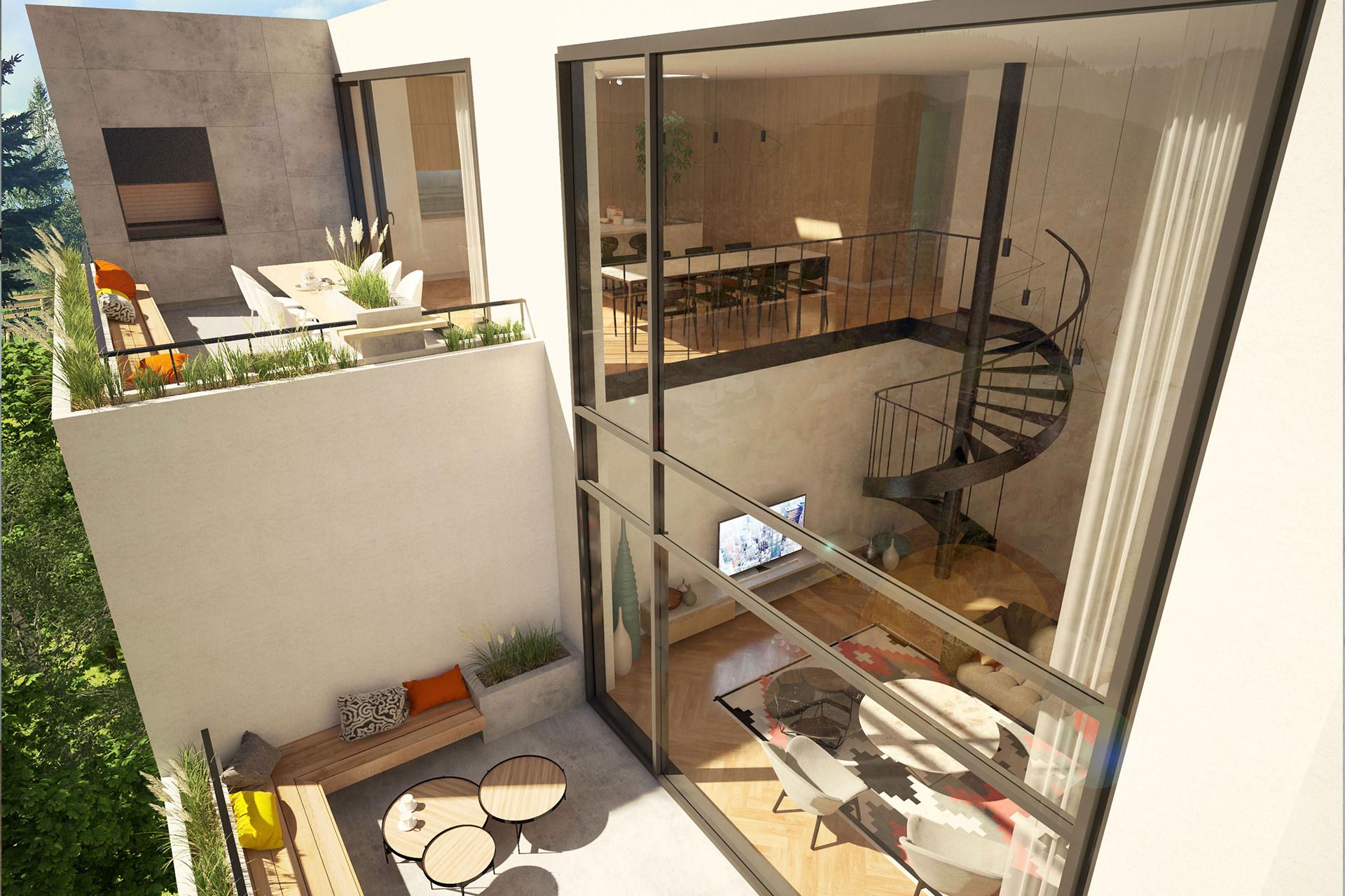 Penthouse pe 2 niveluri