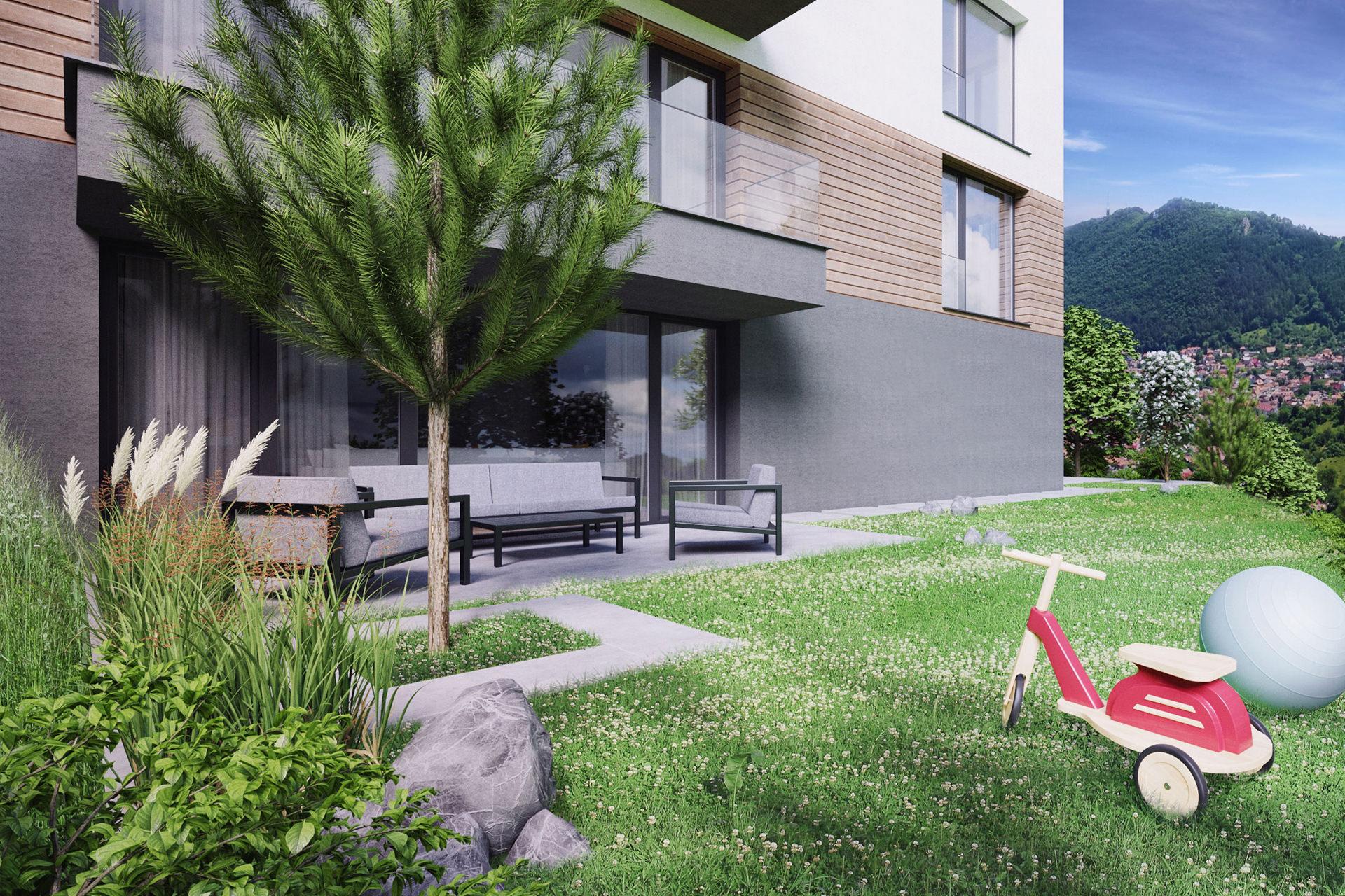 Duplex cu gradina